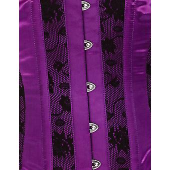 Mio Corset Clara Purple With Black Lace Underbust Corset AIC-01-129