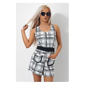 The Fashion Bible Casey Monochrome Playsuit