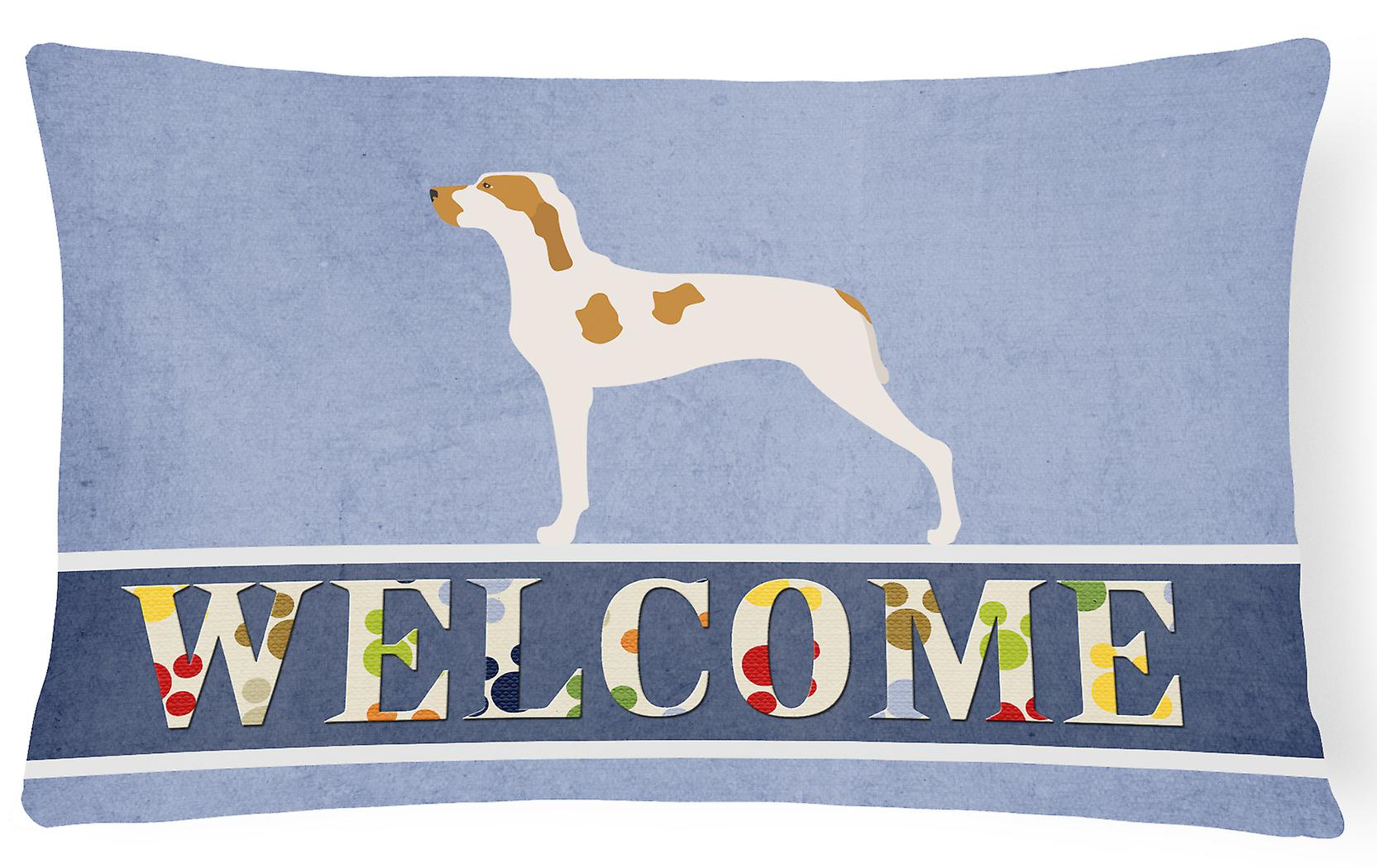 Ariege Pillow Decorative Canvas Fabric Welcome Pointer oECBeWxQrd