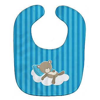 Carolines Treasures  BB8620BIB Baby Boy Bear on Cloud Baby Bib