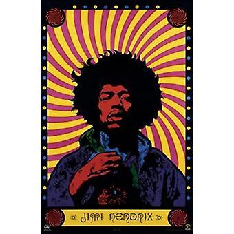 Jimi Hendrix - affiche psychédélique Poster Print