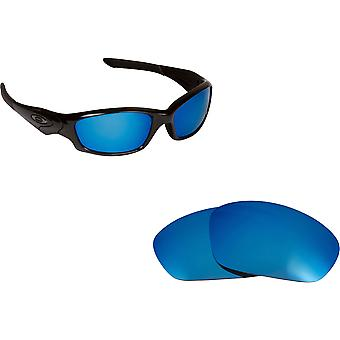 Best SEEK Replacement Lenses for Oakley STRAIGHT JACKET Blue Mirror