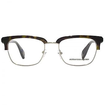 Alexander McQueen Edge AM0044 Glasses In Havana