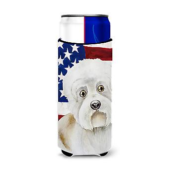 Dandie Dinmont Patriotic Michelob Ultra Hugger for slim cans