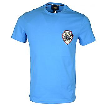 Cavalli Class B3jrb719 Cotton Stretch Snake Logo Turquoise T-shirt