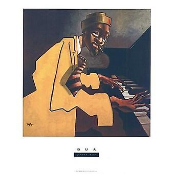 Impresión de Poster del pianista por Justin Bua (24 x 29)