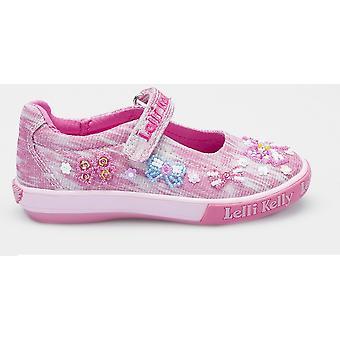 df39e4ef5778 Lelli Kelly Bow Shiny LK5066 Pink Canvas Shoes