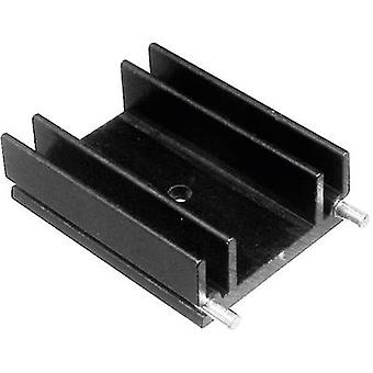 Fin heat sink 9 C/W (L x W x H) 25 x 29 x 12 mm TO 220 ASSMANN W