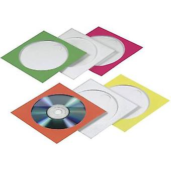 Colourful CD-Paper cases Green, Red, White, Yellow, Orange 50 CDs/DVDs