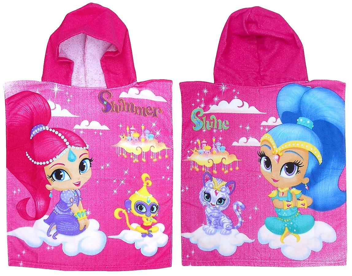 Shimmer and Shine poncho hooded towel