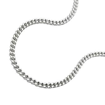 Thin curb chain silver 925 necklace 42cm