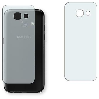 Samsung Galaxy A3 (2017) back screen protector - Golebo crystal-clear protector (deliberately smaller than the display, as this is arched)