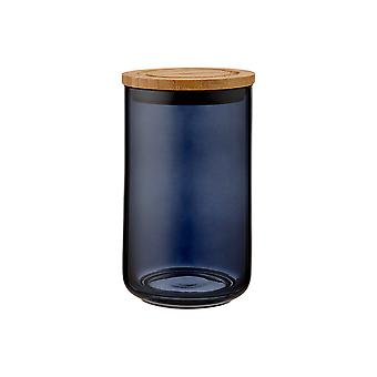 Ladelle Stak Glass Midnight Canister, 17cm