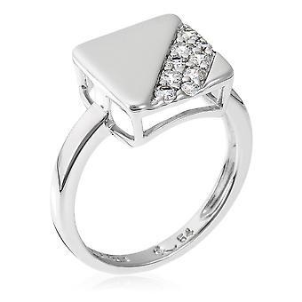 Orphelia sølv 925 Ring Square Zirconium ZR-3591