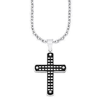 s.Oliver jewel mens necklace stainless steel cross SO1279/1 - 9075003