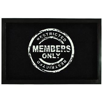 Mats 'Members Only' | Door mat floor mat