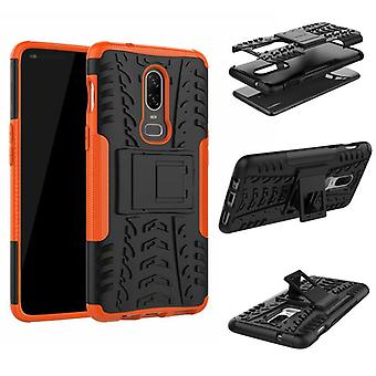 For OnePlus 6 six hybrid case 2 piece SWL outdoor Orange Pouch Pocket sleeve cover protection