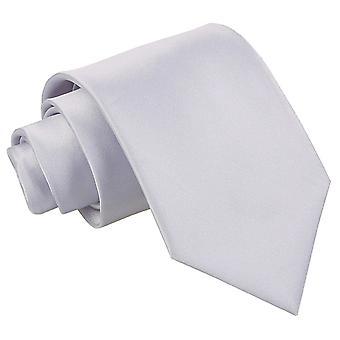 Plaine de Silver Satin cravate extra-longue
