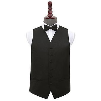 Ricciolo nero sposa gilet & Bow Tie Set