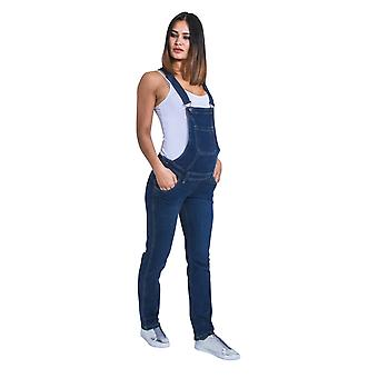 Maternity Dungarees - Darkwash Denim Blue Pregnancy Overalls Maternity Fashion