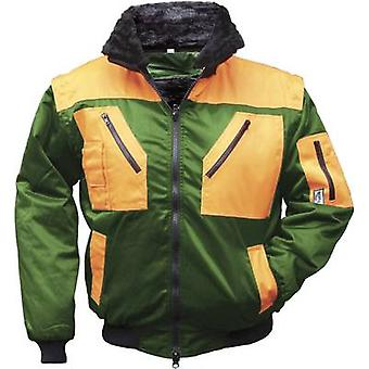 L+D Griffy 42091 4-in-1 Multi-Functions-Pilot jacket with warning effect. Green, Orange XXXL