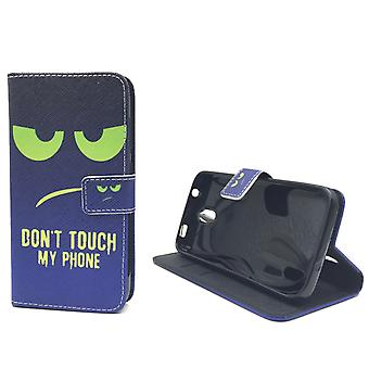 Dont touch my phone mobile case Huawei Y625 Flip case Wallet case