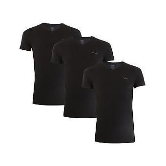 Diesel Umtee Jake Vneck 3PACK 00SPDM0AALW900 universal all year men t-shirt