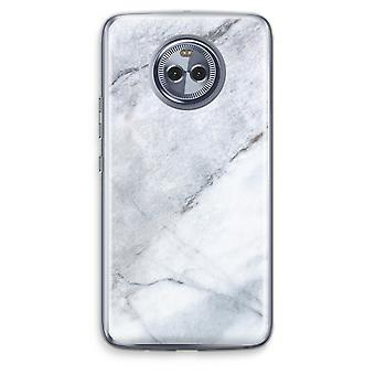 Motorola Moto X4 Transparent Case - Marble white
