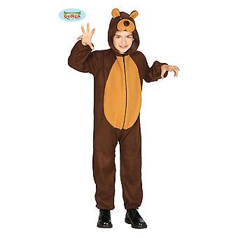 Guirca Teddy bear costume for kids unisex Carnival bear animal costume brown bear