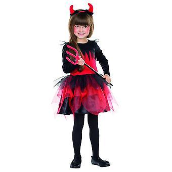Diabeł kostium dziewczyna dzieci Halloween demona karnawału diabeł