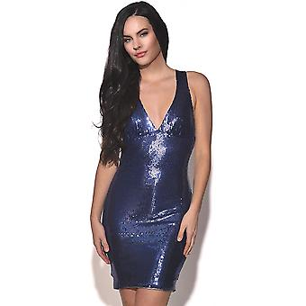 Strappy Back Sequin Party Dress