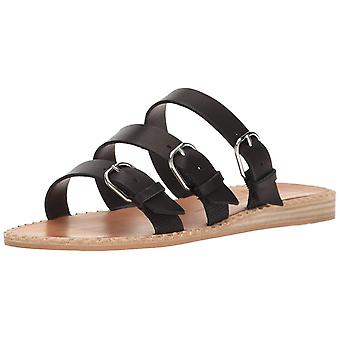 Dolce Vita Womens Para Leather Open Toe Casual Slide Sandals