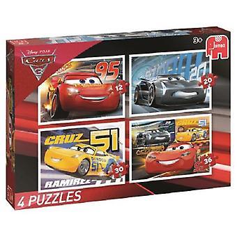 Jumbo puzzel Disney Cars3 4 in 1