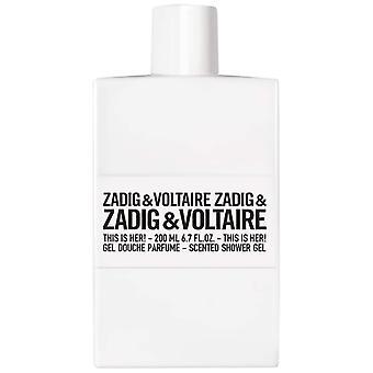 Zadig & Voltaire ist ihre Dusche Gel 200 ml