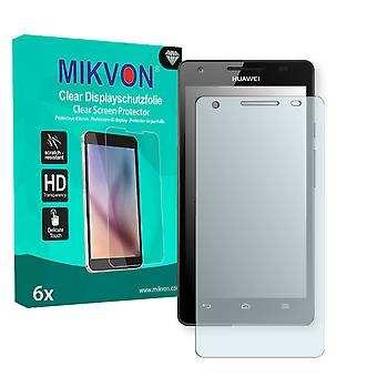 Huawei Honor 3 Screen Protector - Mikvon Clear (Retail Package with accessories)