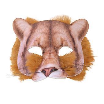 Лев лицо маска реалистичные меха