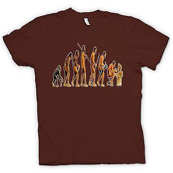 Mans Evolution - grappige T Shirt