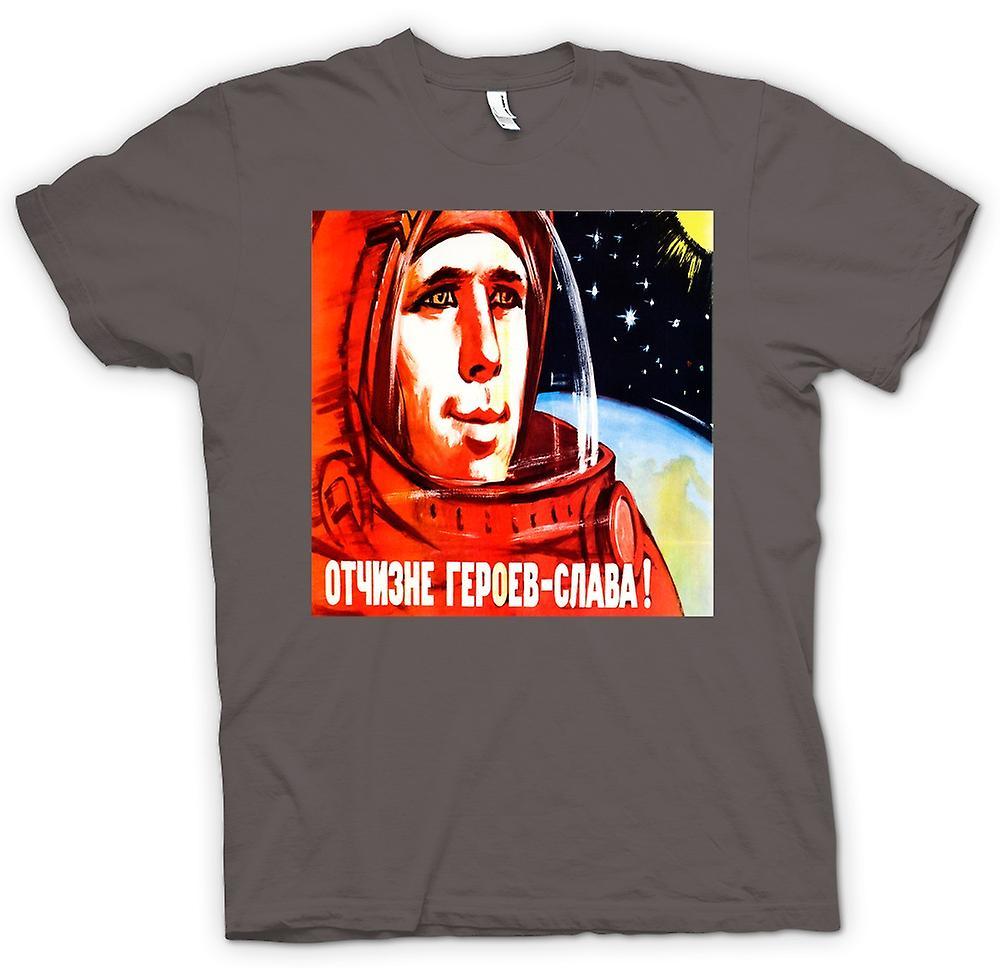 Womens T-shirt - Yuri Gagarin - rysk kosmonaut
