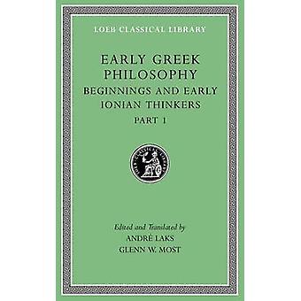 Początku filozofii greckiej - Tom II - zachodniej greckich myślicieli przez Glenn W