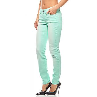 AjC skinny jeans for women short size destroyed Green