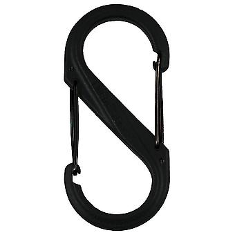 Nite Ize S-Biner Plastic Double Gated Carabiner #8 (Black)
