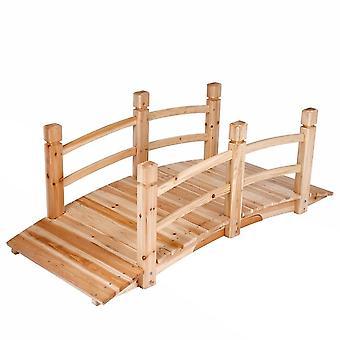 Pont de jardin bois passerelle arrondi housse meuble jardin 140 Cm 2201032