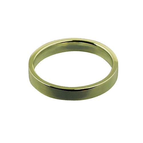 18ct Yellow Gold 3mm plain Flat Court shaped Wedding Ring