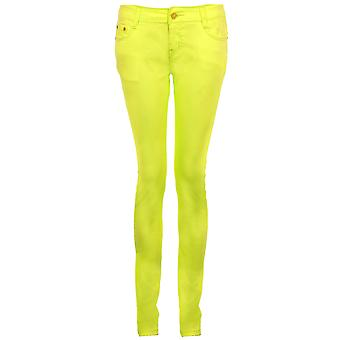 Ladies Florescent Plain Slim Skinny Fit Women's Stretch Trousers Jeans Jeggings