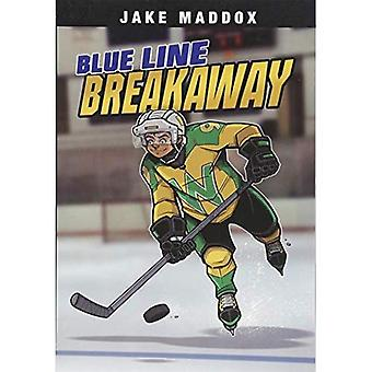 Blue Line Breakaway (Jake Maddox Sports Stories)