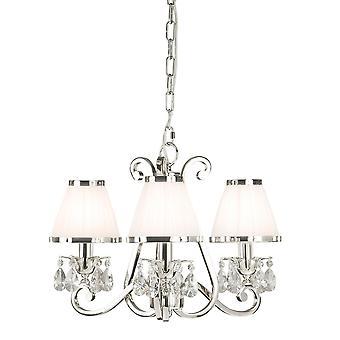Oksana Nickel trois plafond lumineux pendentif avec des nuances de blanc - Interiors 1900 63514