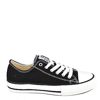 Victoria Shoes Tribu Black Canvas Low Top Trainer