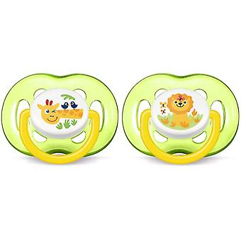 Avent Animal Ventilated Pacifiers +18 Months 2 pcs