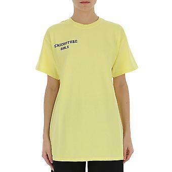 Semi-couture Michela Yellow Cotton T-shirt