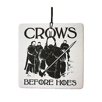 Crows Before Hoes Car Air Freshener